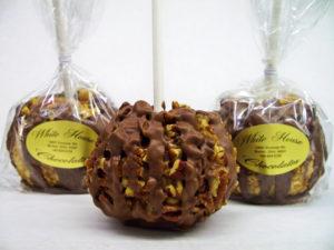 White House Chocolates chocolate covered caramel apples