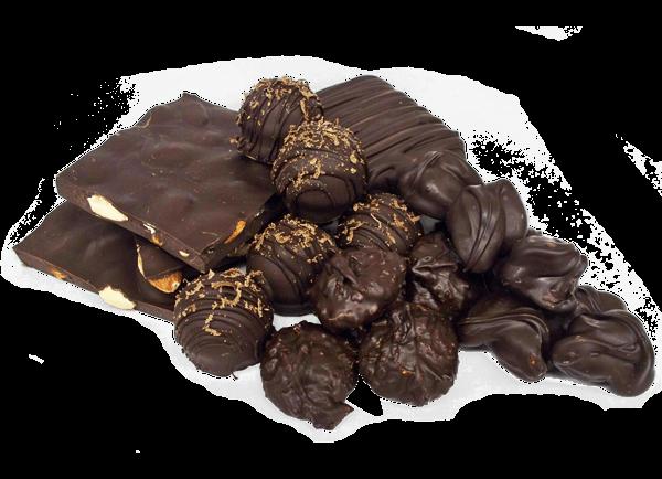 pile of White House Chocolates dark chocolate candies