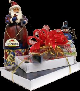 Jim Shore collectible Santa and Snowman