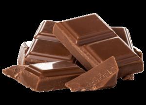 pieces of milk chocolate bar