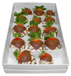 box of White House Chocolates chocolate-covered strawberries
