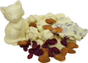 pile of white chocolate candies and nuts